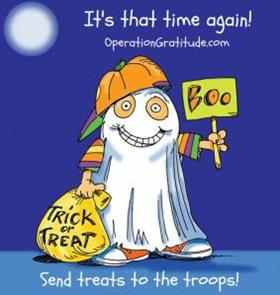 Share the LOVE and the CANDY with our TROOPS